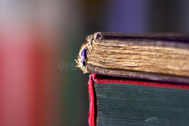 Book Spine Macro royalty free stock photography