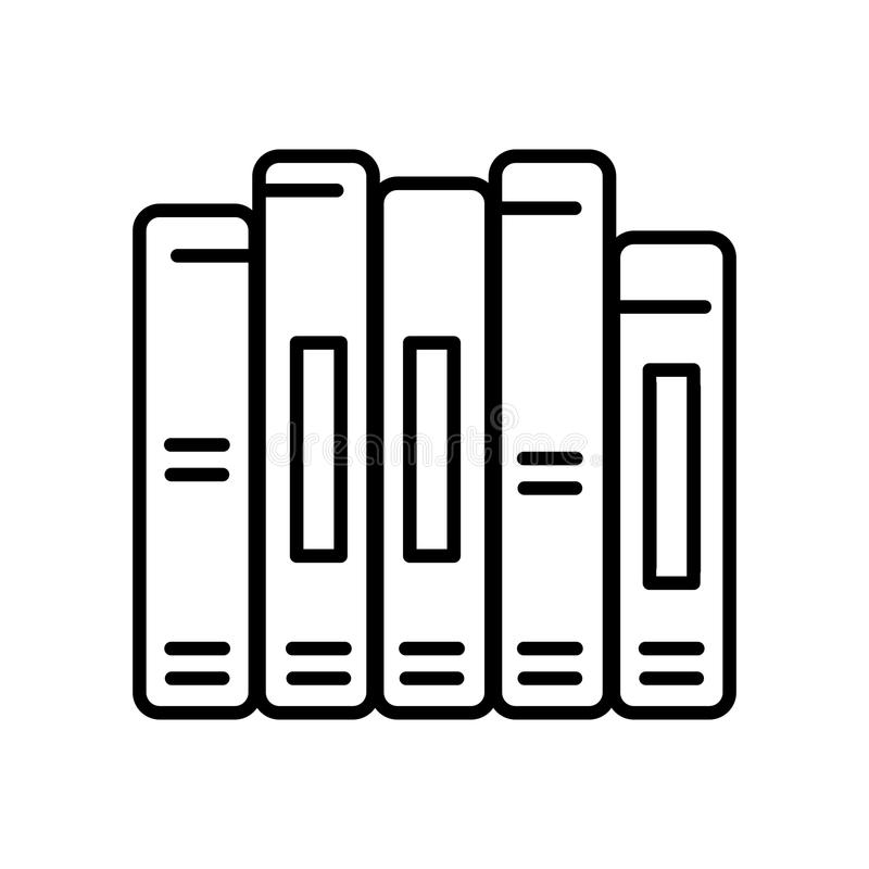 Book spine vector icon. Outline design. stock illustration
