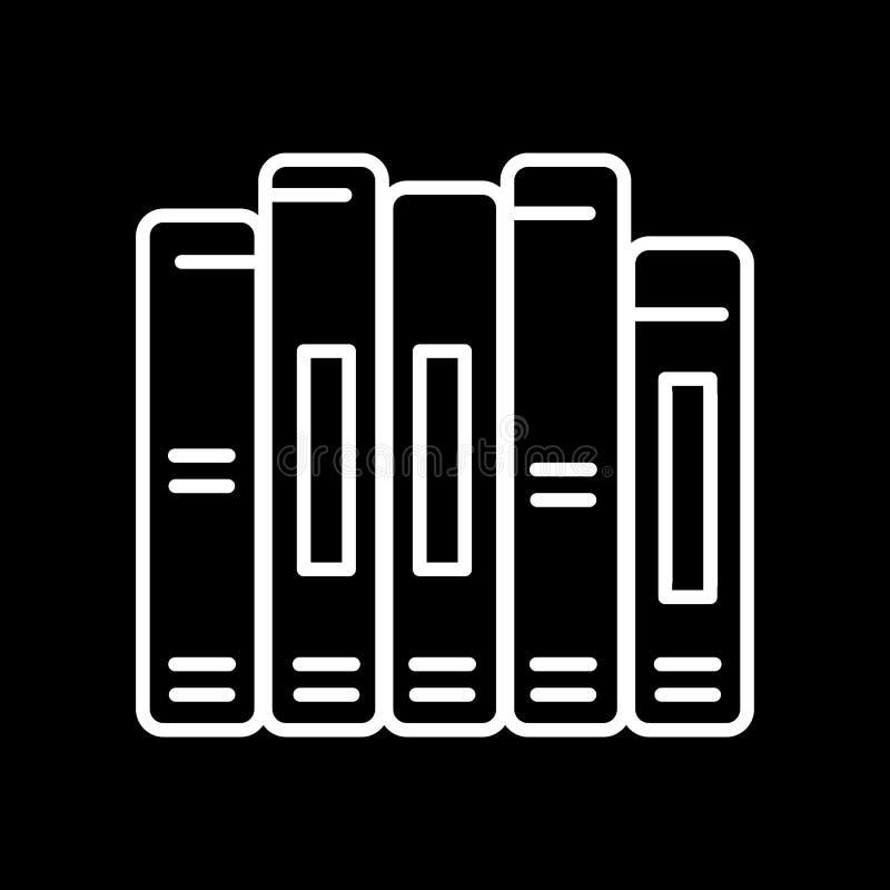 Book spine vector icon. Outline design. royalty free illustration