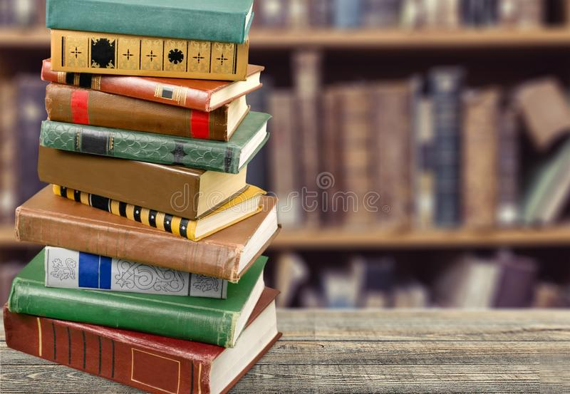 Book. Stack old dictionary education text science stock photography