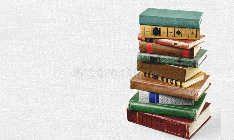 Book. Stack old dictionary education text science royalty free stock photography