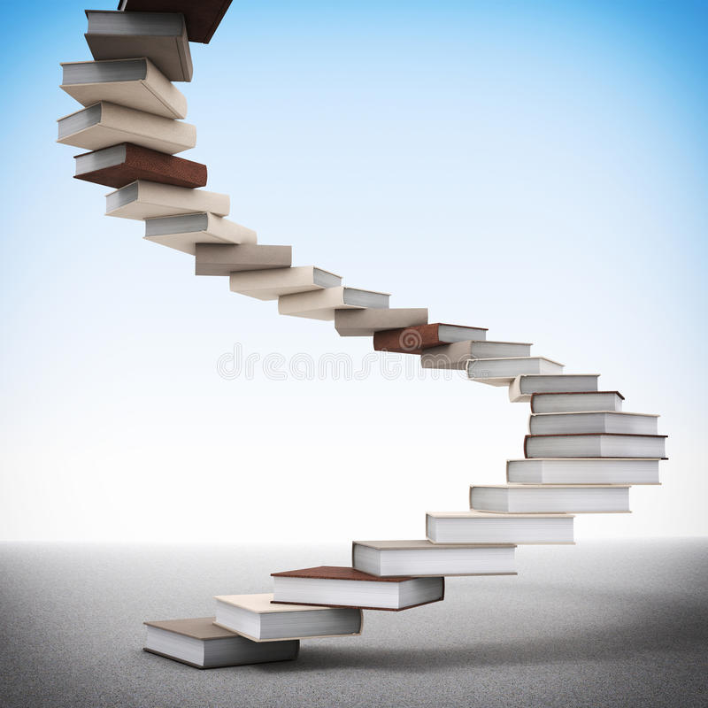 Free Book Stair Stock Photography - 24925212