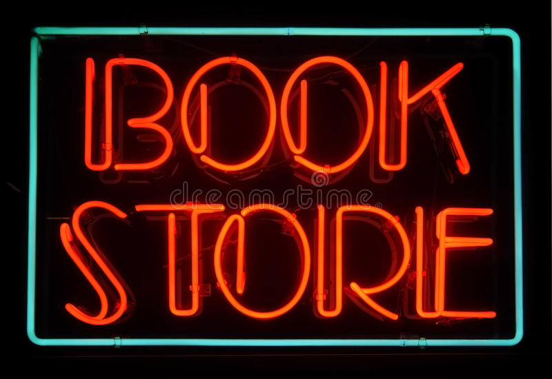 Download Book store stock image. Image of signage, neon, description - 23191589
