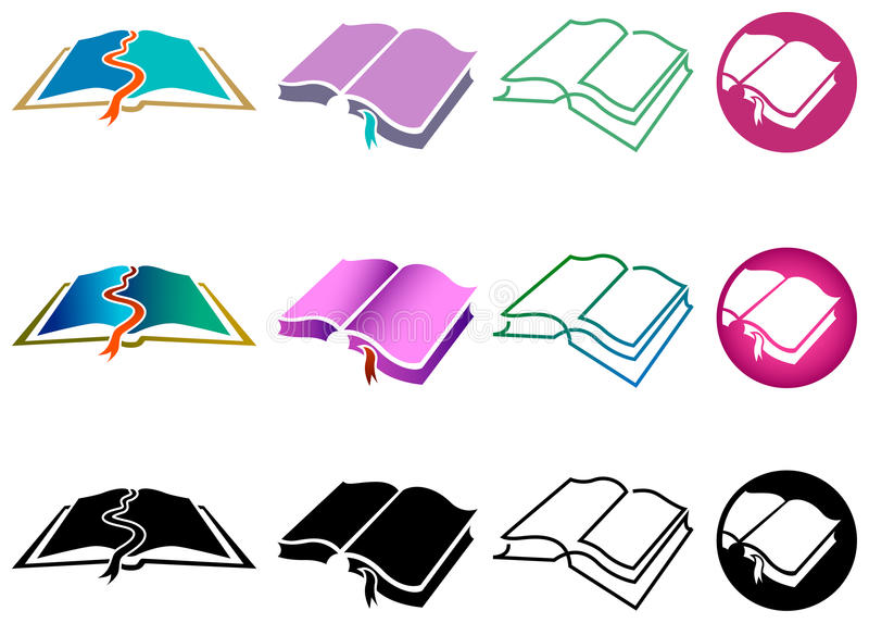 Book symbols set royalty free illustration