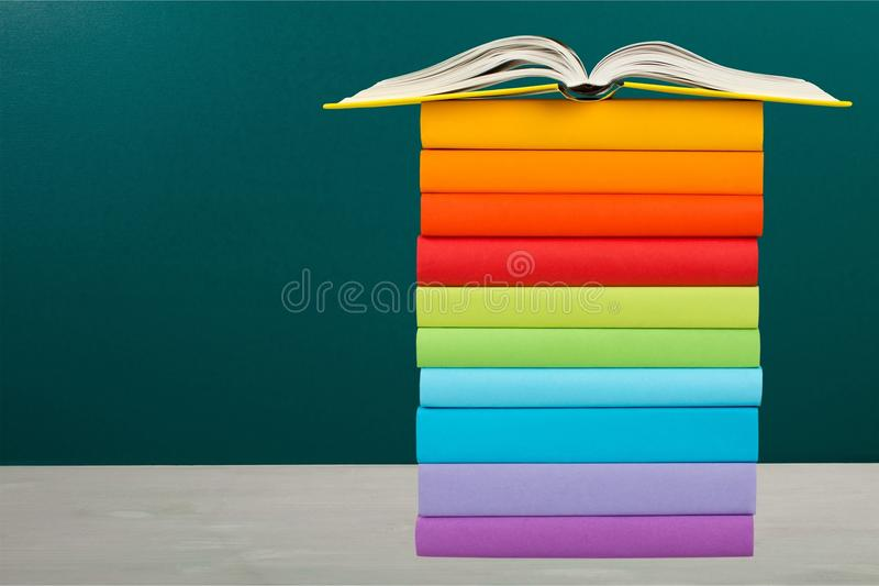 Book on tablet. School back dictionary estate real teacher royalty free stock photo