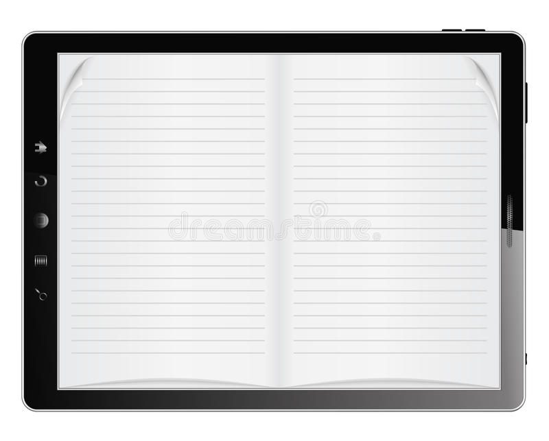 Book in Tablet PC royalty free illustration