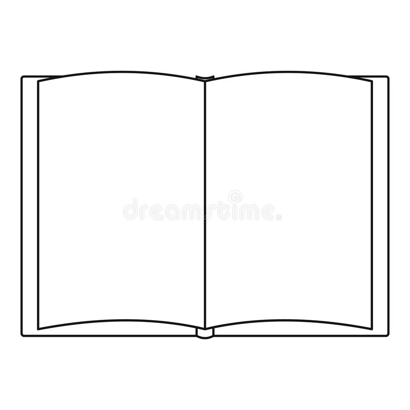Book of tale icon, outline style. vector illustration