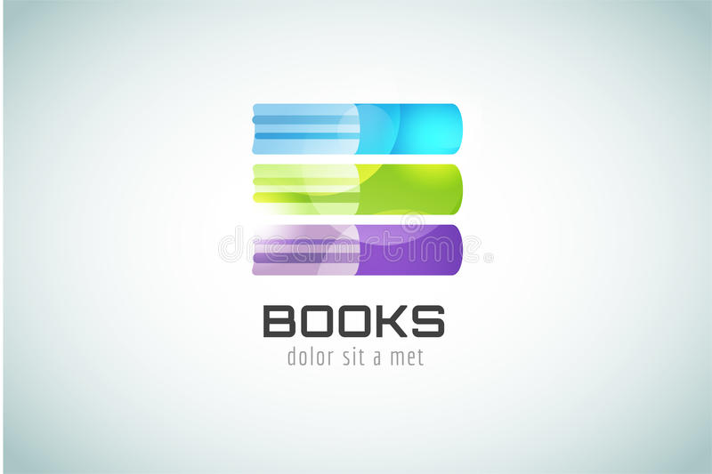 Book template logo icon. Back to school. Education royalty free illustration