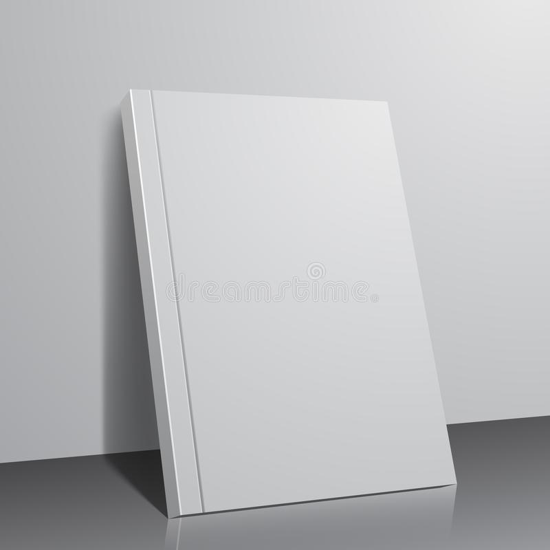 Book template on abstract background royalty free stock photography