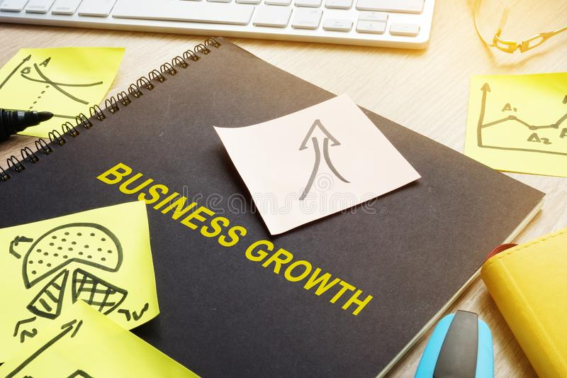 Book with title Business growth. royalty free stock photography