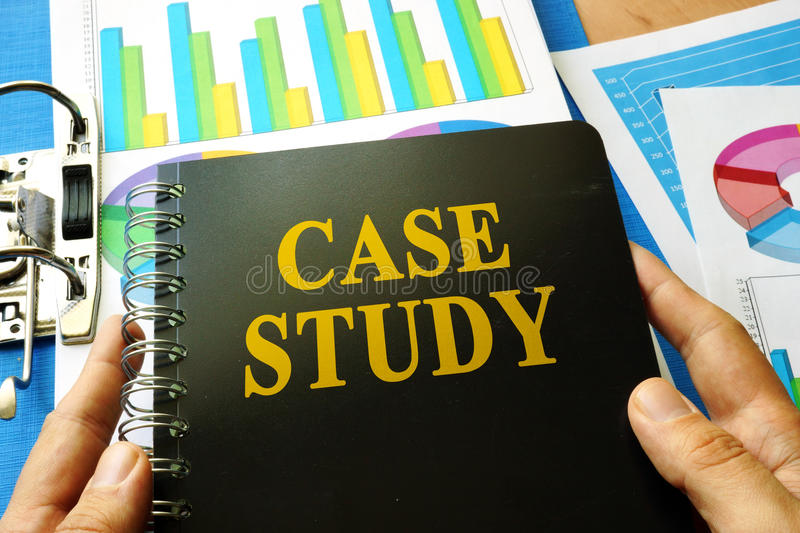 Book with title case study. royalty free stock photos
