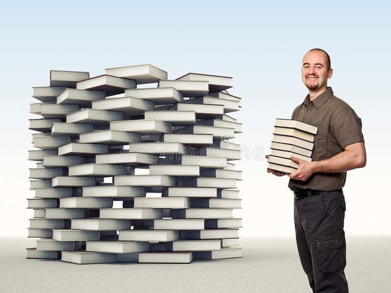 Book tower stock photos