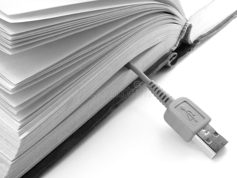 Book with usb stock photography