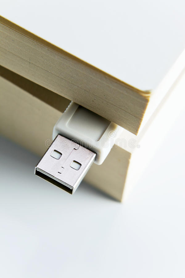 Download Book with USB plug stock photo. Image of communication - 24876678
