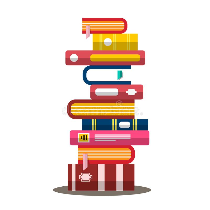 Book. Vector Flat Design Heap. Pile of Books. royalty free illustration