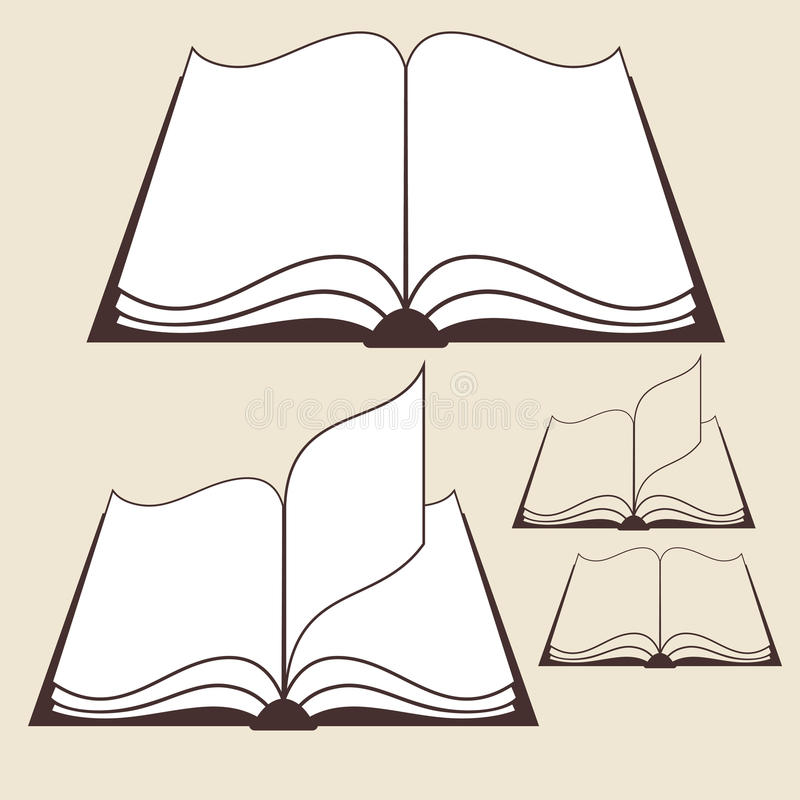 Download Book stock vector. Illustration of page, open, isolated - 34858331