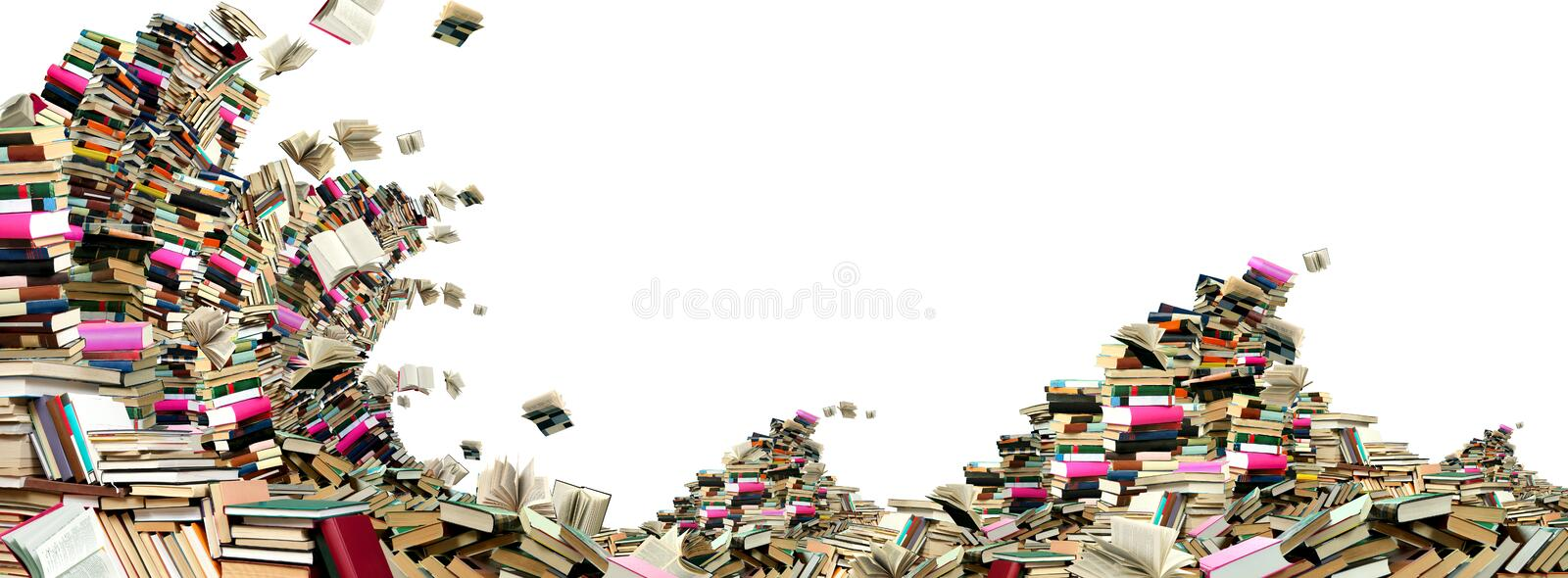 Book wave royalty free stock image