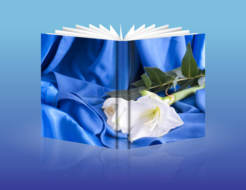 Book of a wedding flowers stock images
