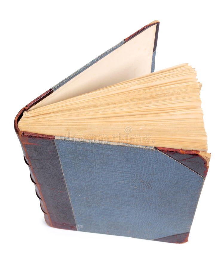Book on white stock image