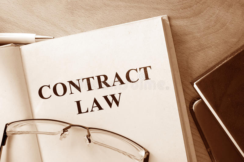 Download Book With Words Contract Law  And Glasses. Stock Photo - Image of financial, legal: 56888732