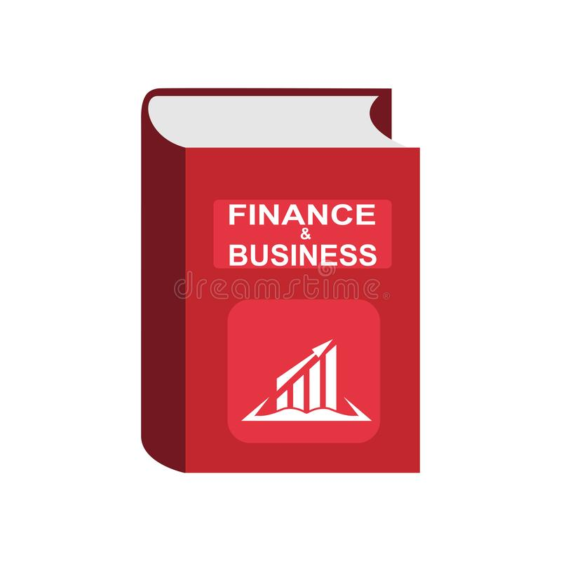 Book with the words Finance and business, imitation of 3D volume stock illustration