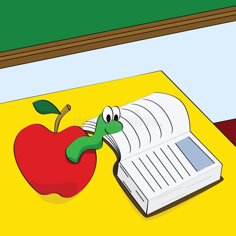 Book worm stock illustration