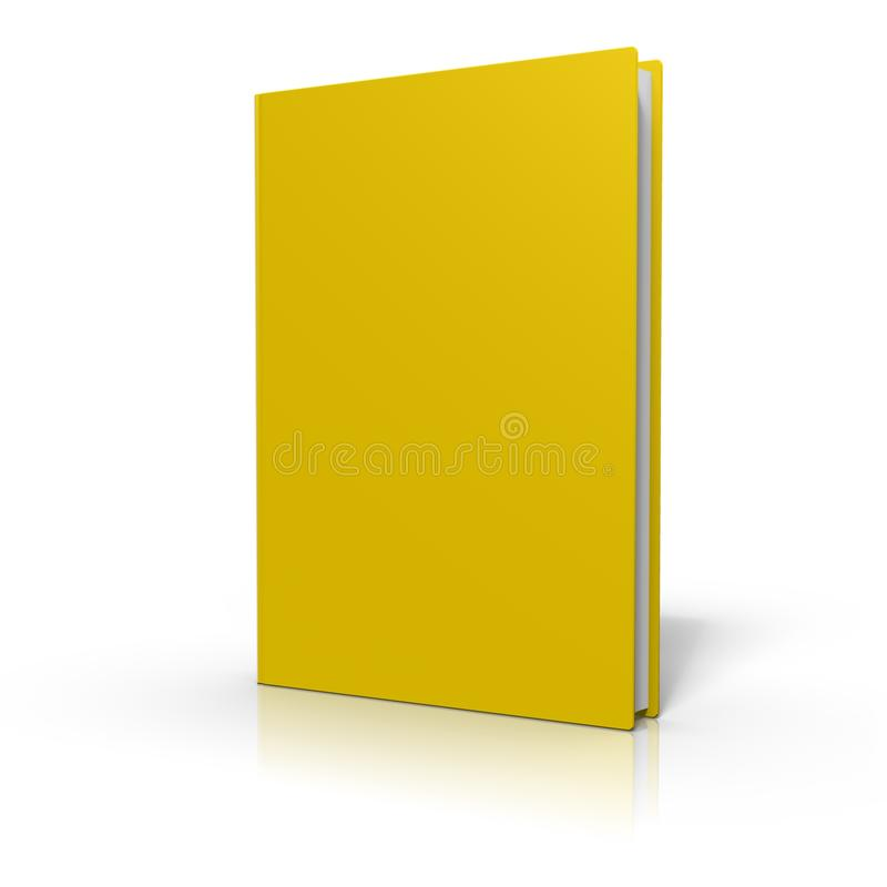 Book with yellow cover, isolated on white background vector illustration