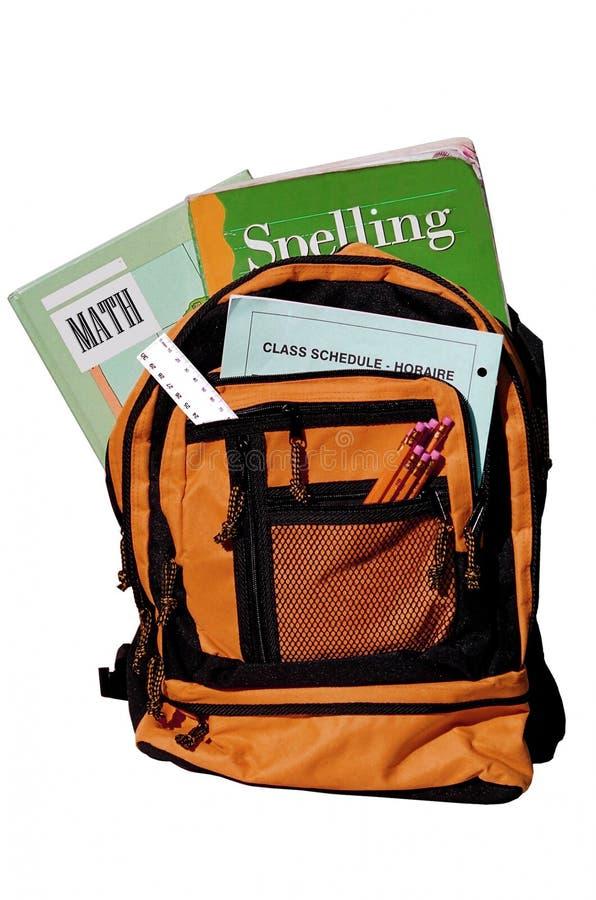 Bookbag photographie stock libre de droits