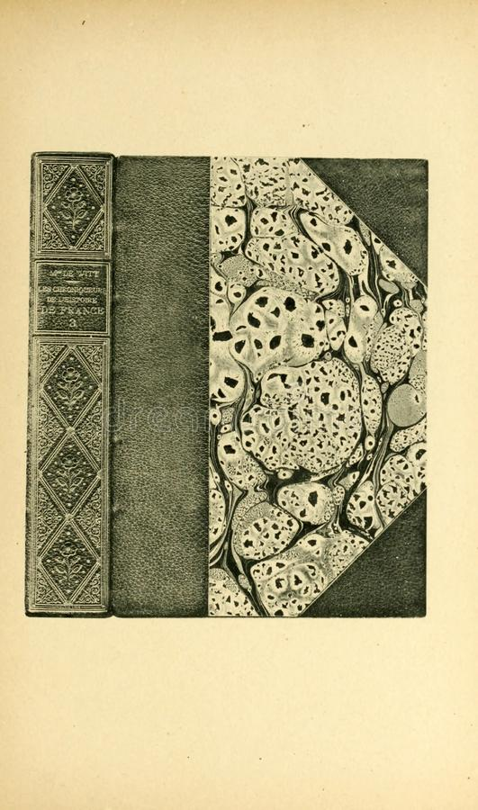 Bookbinding illustration. Retro and old image stock photos