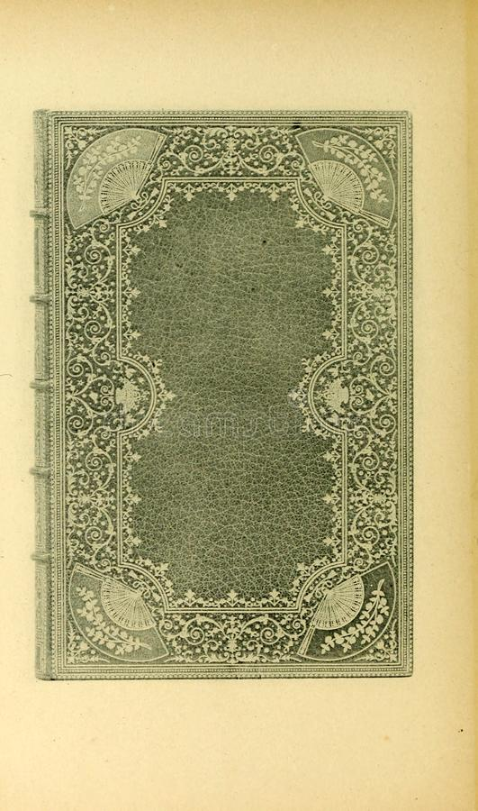 Bookbinding illustration. Retro and old image stock images