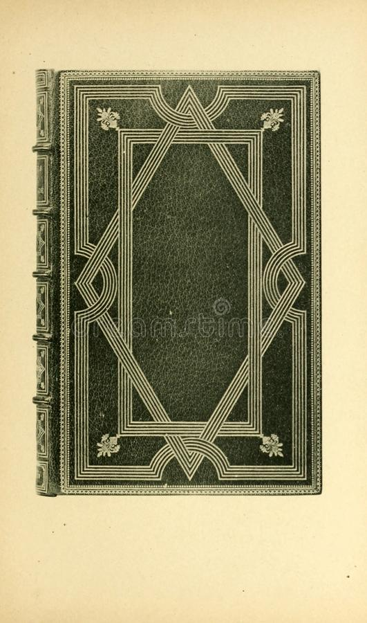 Bookbinding illustration. Retro and old image stock photography