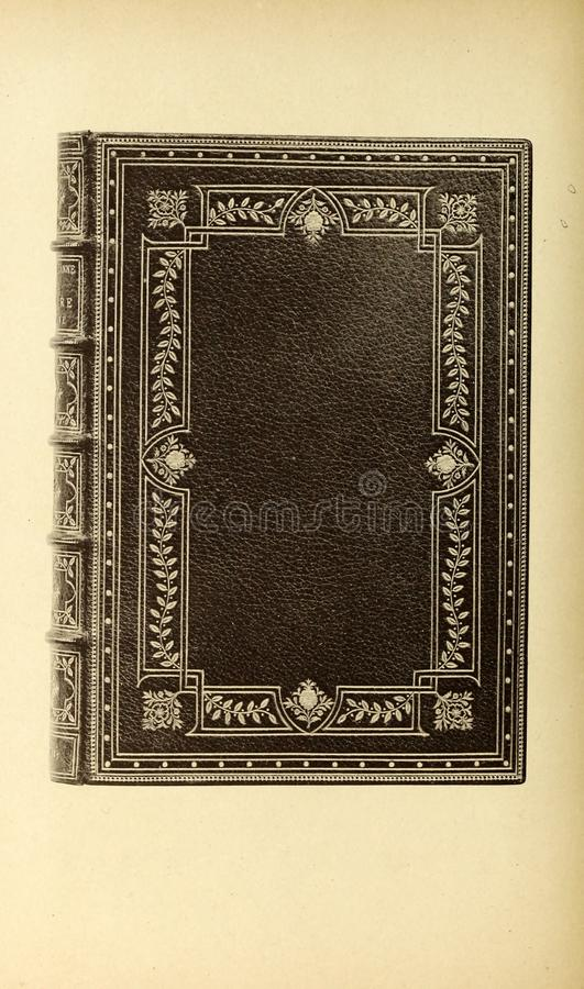 Bookbinding illustration. Retro and old image stock photo