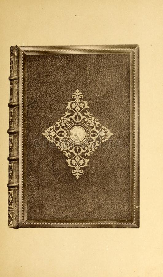 Bookbinding illustration. Retro and old image royalty free stock images