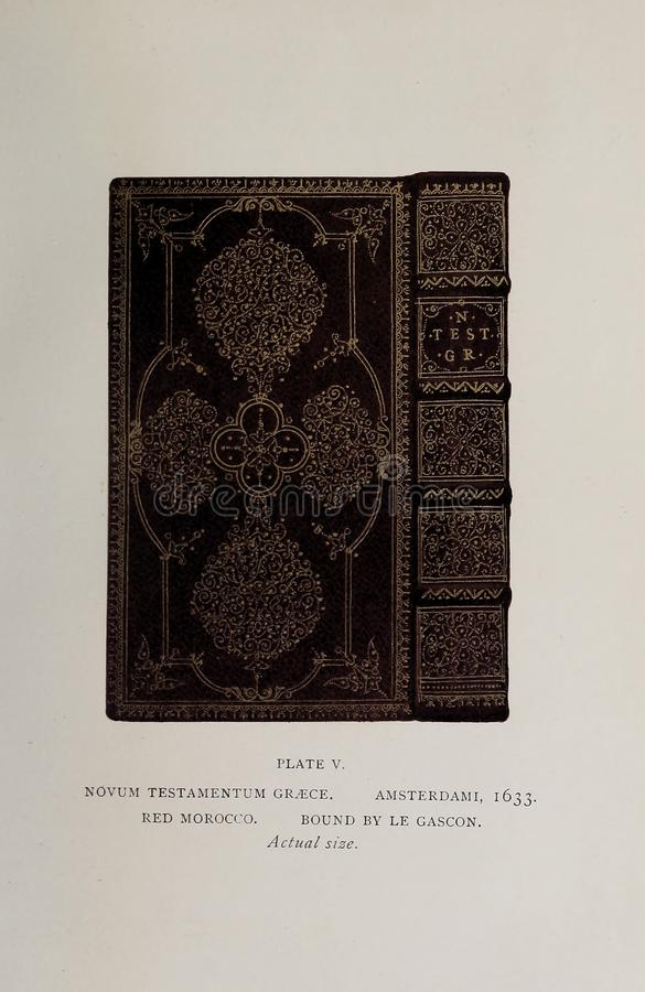 Bookbinding illustration. Retro and old image stock image
