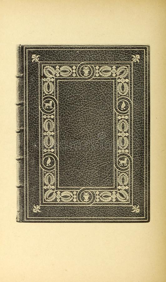 Bookbinding illustration. Retro and old image royalty free stock photo