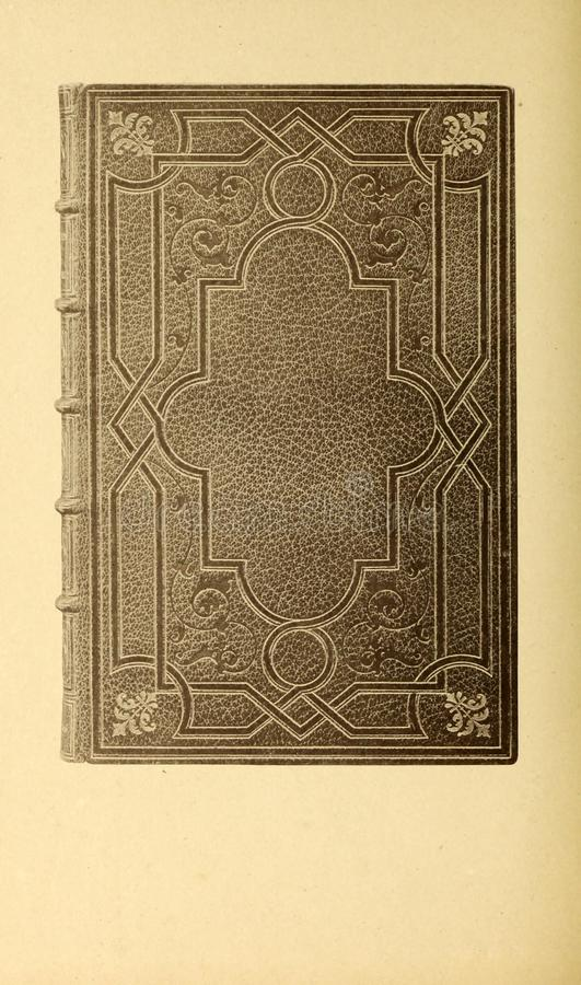 Bookbinding illustration. Retro and old image royalty free stock photography