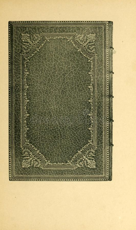 Bookbinding illustration. Retro and old image royalty free stock image