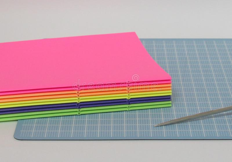 The art of bookbinding. The bookbinding process stock image