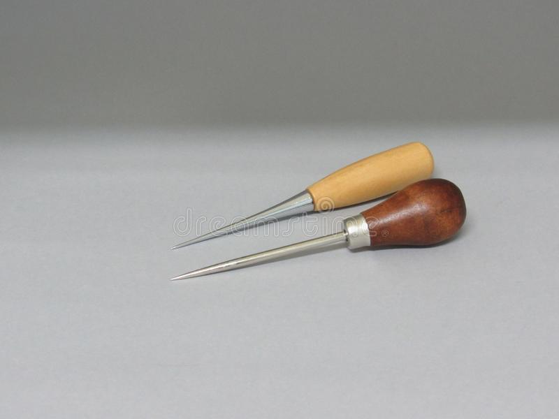 The bookbinding process. The bookbinding tools stock photography