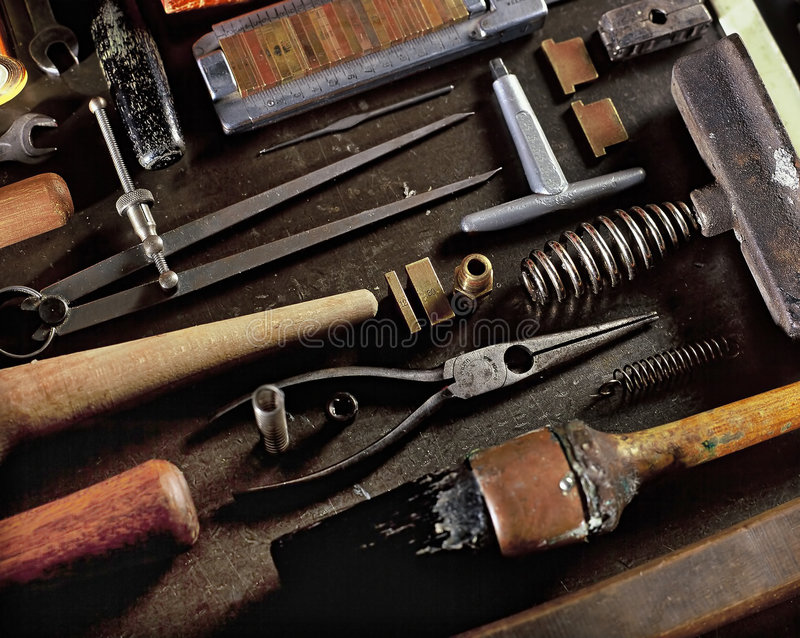 Bookbinding Tools royalty free stock photography