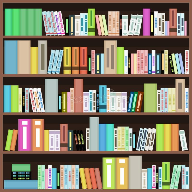 Bookcase ilustracja wektor