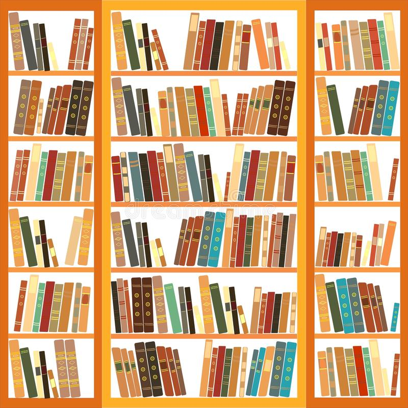 Bookcase Full Of Books Stock Photo
