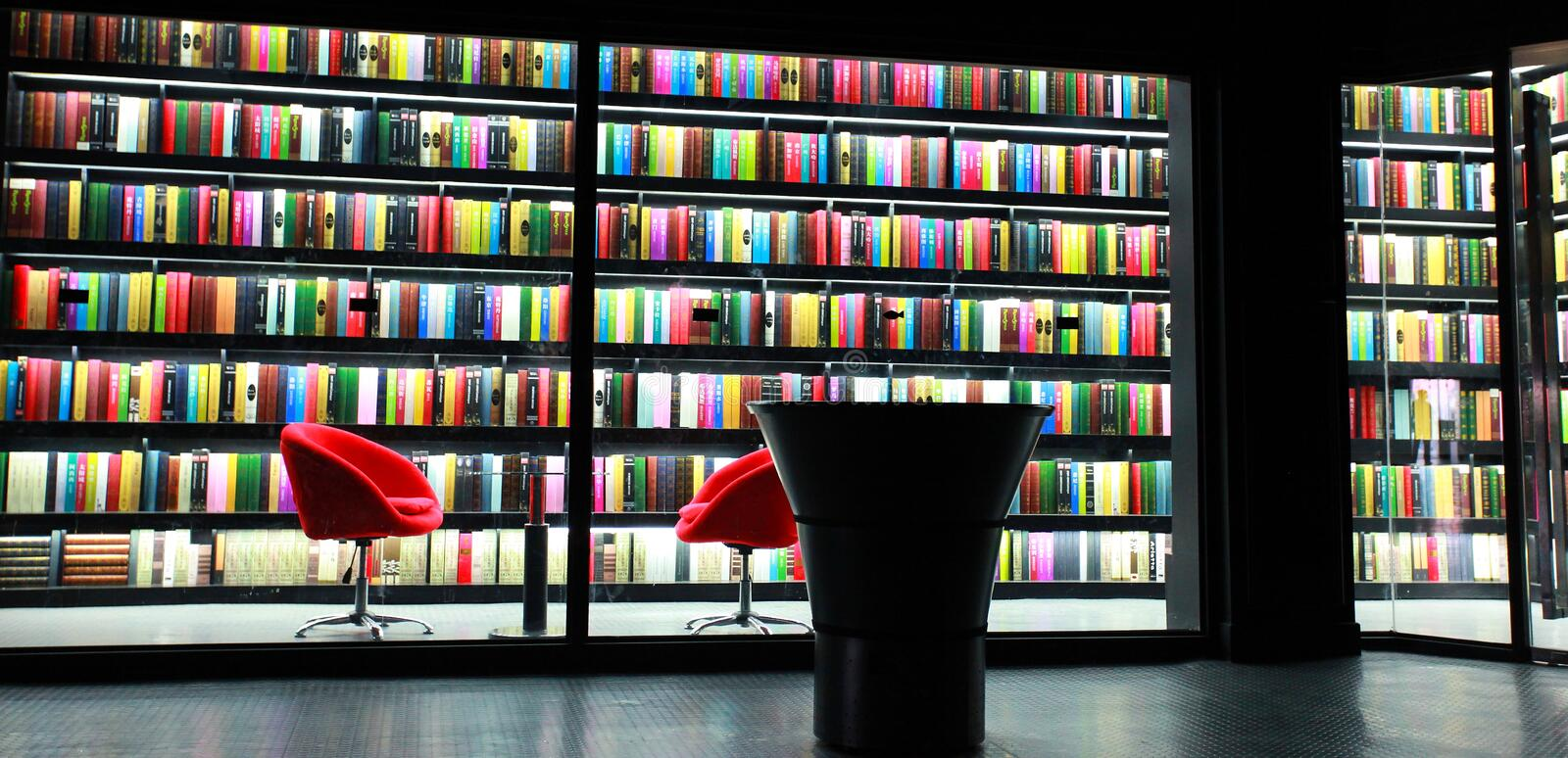 Bookcase of library