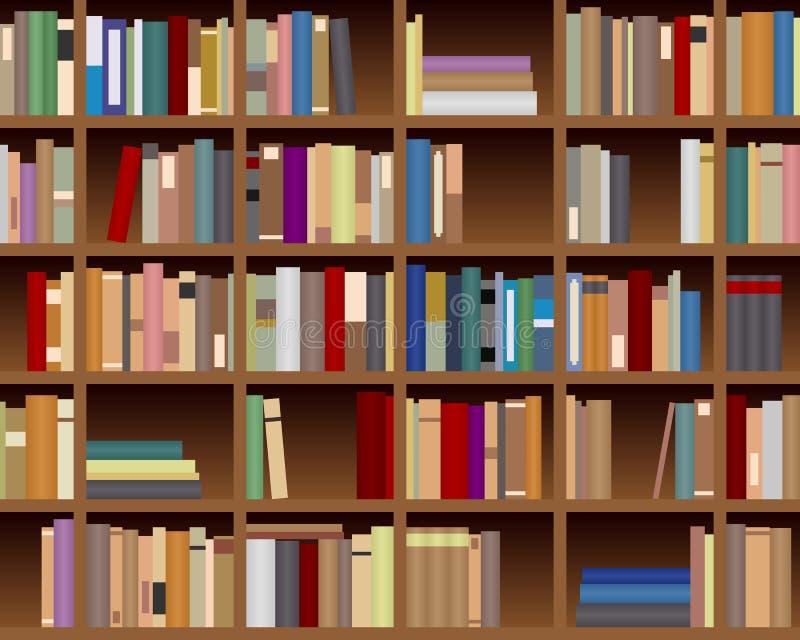 Bookcase Seamless Background royalty free illustration