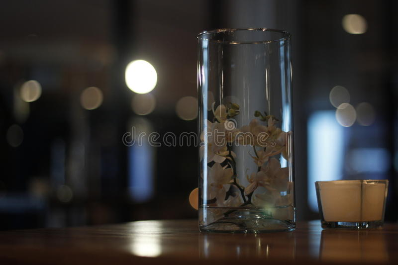 Bookeh en verre images stock