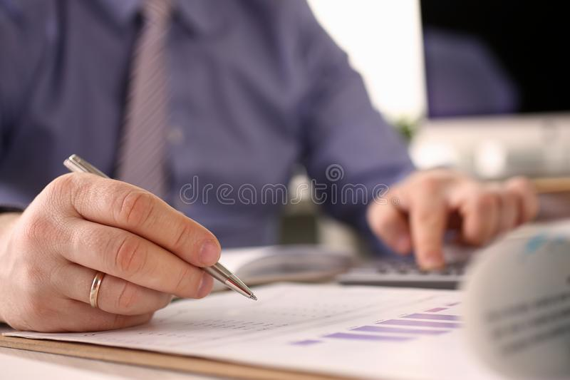 Booker Calculate Finance Balance Investment-Mathe lizenzfreie stockfotografie
