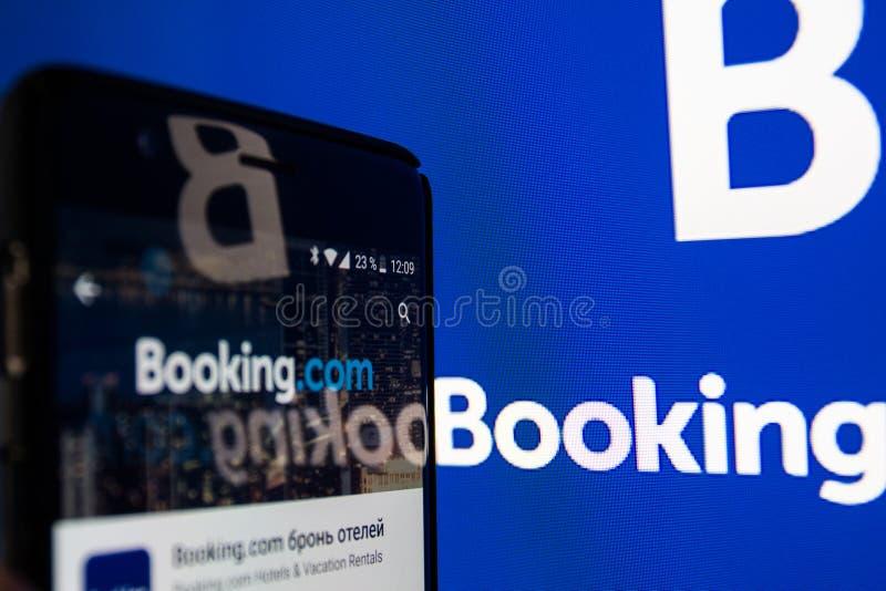 booking aplicação de COM imagem de stock