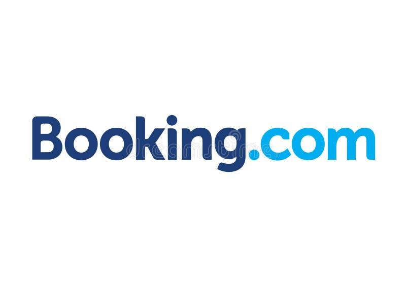 booking logo di COM illustrazione vettoriale