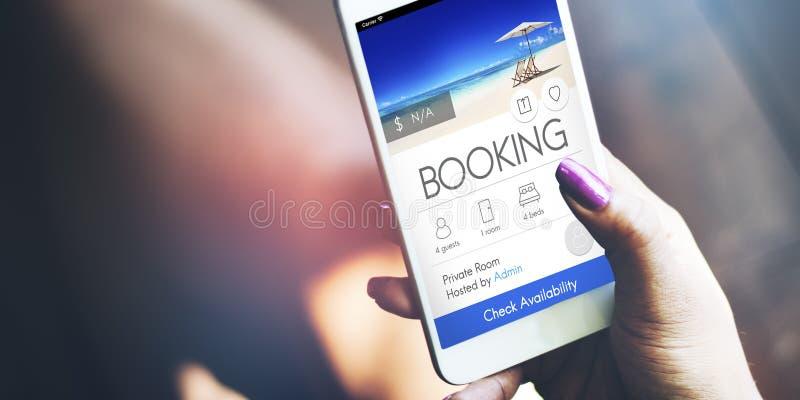 Booking Ticket Online Reservation Travel Flight Concept. Booking Ticket Online Reservation Travel Flight stock images