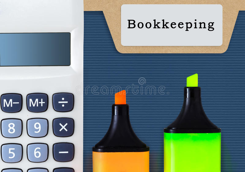 Bookkeeping Accounting Auditing Finance Concept. royalty free stock image